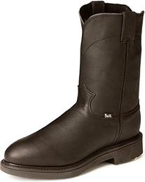 Jow Men's Justin Original Work Boot Pull-On Round Toe Black