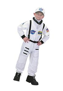 Aeromax Jr. Astronaut Suit with Embroidered Cap, White, size