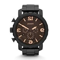 Fossil JR1356 Nate Stainless Steel Watch Black