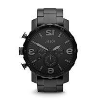 Fossil Men's JR1401 Nate Stainless Steel Watch with Link
