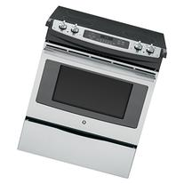 """GE JS630SFSS 30"""" Stainless Steel Electric Slide-In Smoothtop"""