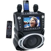 "Karaoke USA GF830 Karaoke System with 7"" TFT Color Screen,"