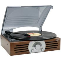 JENSEN JTA-222 3-Speed Stereo Turntable with AM/FM Stereo