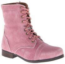 Steve Madden Jtroopa Flat ,Pink Leather,4 M US Big Kid