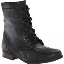 Steve Madden Jtroopa Lace-Up Boot ,Black Distressed,13 M US
