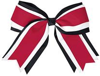 Jumbo 3 Color Hair Bow Red