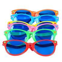 Seekingtag Colorful Jumbo Blue Lens Sunglasses for Costumes