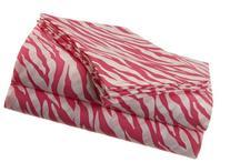 Jungle Love Zebra Stripe Polyester Microfiber Sheet Set