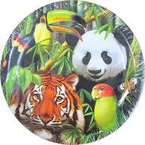 Jungle Animals 'Wild Animals' Small Paper Plates