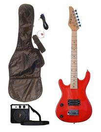 RED Junior Kids Mini 3/4 Electric Guitar Amp Starter Pack,