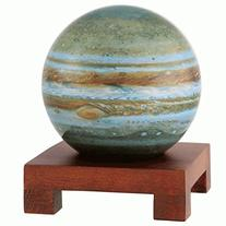 "4.5"" Jupiter MOVA Globe with Square Base in Natural Wood"