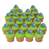 Jurassic World Officially Licensed 24 Cupcake Topper Rings