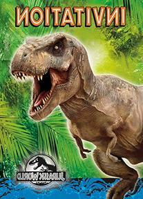 Jurassic World Party Invitations, 8ct