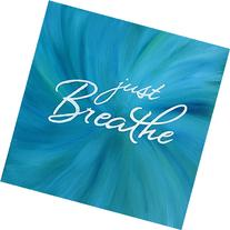 Just Breathe 10x10 Inch Square Wall Art Inspirational Quote