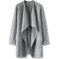 Chicwish Just Knitted Open Coat in Grey
