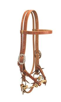 Weaver Leather Justin Dunn Bitless Bridle, Russet, Horse