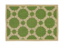 Buddy's Line Natural Jute Pet Placemat, Green Background