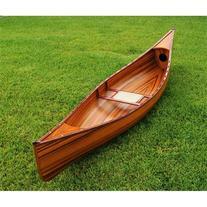 Old Modern Handicrafts K007 10' Real Canoe in Brown