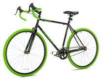 Takara Kabuto Single Speed Road Bike, 700c, Black/Green,