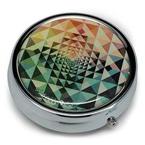 gopillable Kaleidoscope Pattern Pill Box; Red, Green, Blue,