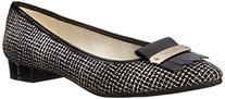 Anne Klein Women's Kallima Fabric Ballet Flat, Black Tweed,