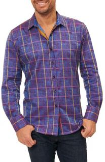Men's Robert Graham Kannan Egyptian Cotton Sport Shirt, Size