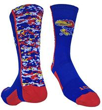 Kansas Jayhawks Digital Camo Crew Socks