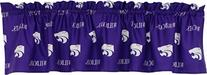 College Covers Kansas State Wildcats Printed Curtain Valance