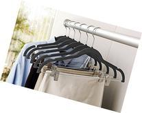Karen Rhodes Black 6 Pack Velvet Suit Hanger with Metal