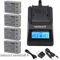 Kastar Fast Charger Kit and Battery  for Canon NB-10L, CB-