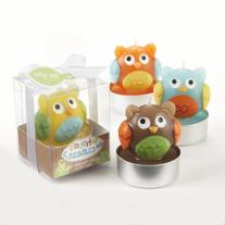 Kate Aspen Set of 4 Assorted Candle, Whooo's the Cutest Baby