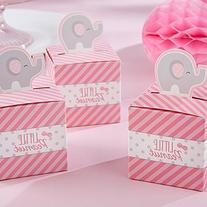 Kate Aspen Little Peanut Elephant Favor Box, Pink