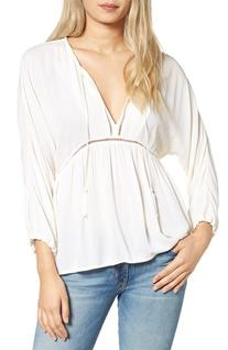 Women's Ella Moss Katella Blouse, Size Medium - White