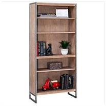 Kathy Ireland Home by Martin Belmont 4-Shelf Bookcase Rustic