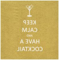 Paperproducts Design 20-Pack Keep Calm Cocktail Paper