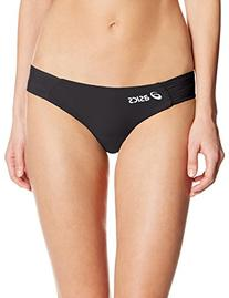 ASICS Women's Keli Bikini Bottom, Black/Black, Medium