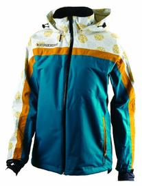 RACEFACE Women's Kelly Waterproof Jacket, White Ocean, Large