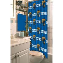"""NCAA Kentucky Wildcats Shower Curtain, Royal Blue, 72"""" x 72"""