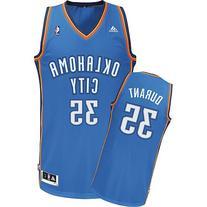 Kevin Durant Oklahoma Thunders 2014 Light Blue Away NBA