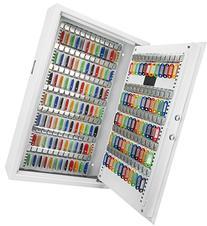 Barska 144 Key Digital Keypad Wall Key Safe, White
