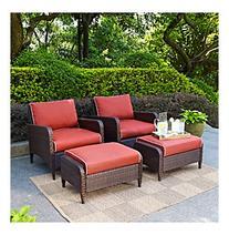 Crosley Furniture Kiawah Outdoor Wicker Chair Seating Set