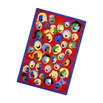Joy Carpets Kid Essentials Early Childhood Joyful Faces Rug