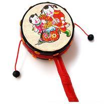 JETTINGBUY KidiBeats Kids Drum Set Rattle Drum Spin