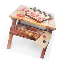 Kids Checkers and Chalkboard, 2-sided game board, Solid