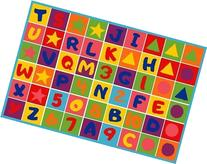 Kids Rug Numbers and Letters 3' X 5' Children Area Rug for