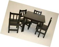 eHemco Kids Table and 4 Chairs Set Solid Hard Wood in