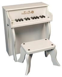 Kids Upright Piano Elite Spinet - White