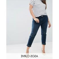 ASOS CURVE Kimmi Shrunken Boyfriend Jean In Grace Wash With