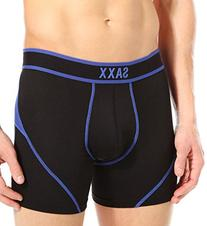 Saxx Men's Kinetic Boxer - Black / Cobalt - Large