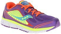 Saucony Girls Kinvara 5 Sneaker,Purple/Coral/Citron,11.5 M